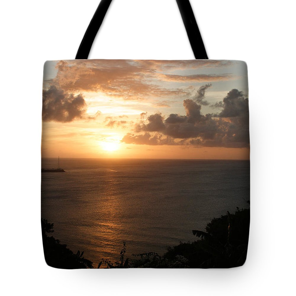 Grenada Tote Bag featuring the photograph Grenadian Sunset I by Jean Macaluso