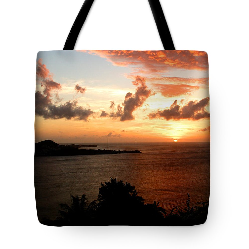 Sunset Tote Bag featuring the photograph Grenadian Sunset II by Jean Macaluso