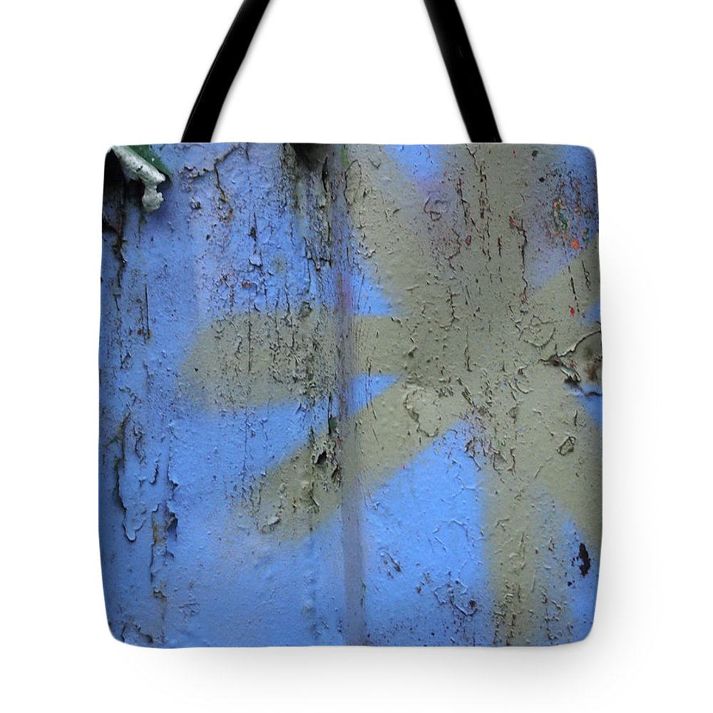 Graffiti Tote Bag featuring the photograph Grey Star by Philip Openshaw