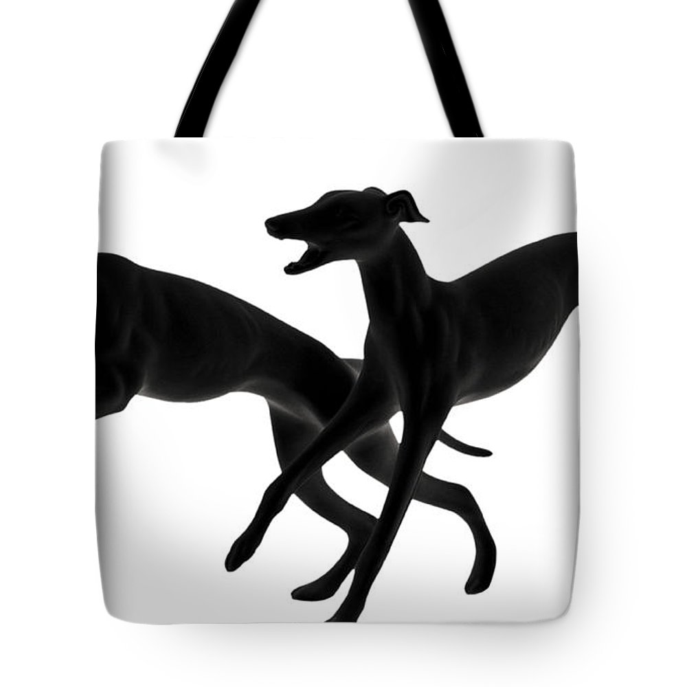 Greyhounds Tote Bag featuring the photograph Greyhounds Travelling At 45 Mph by Christine Till