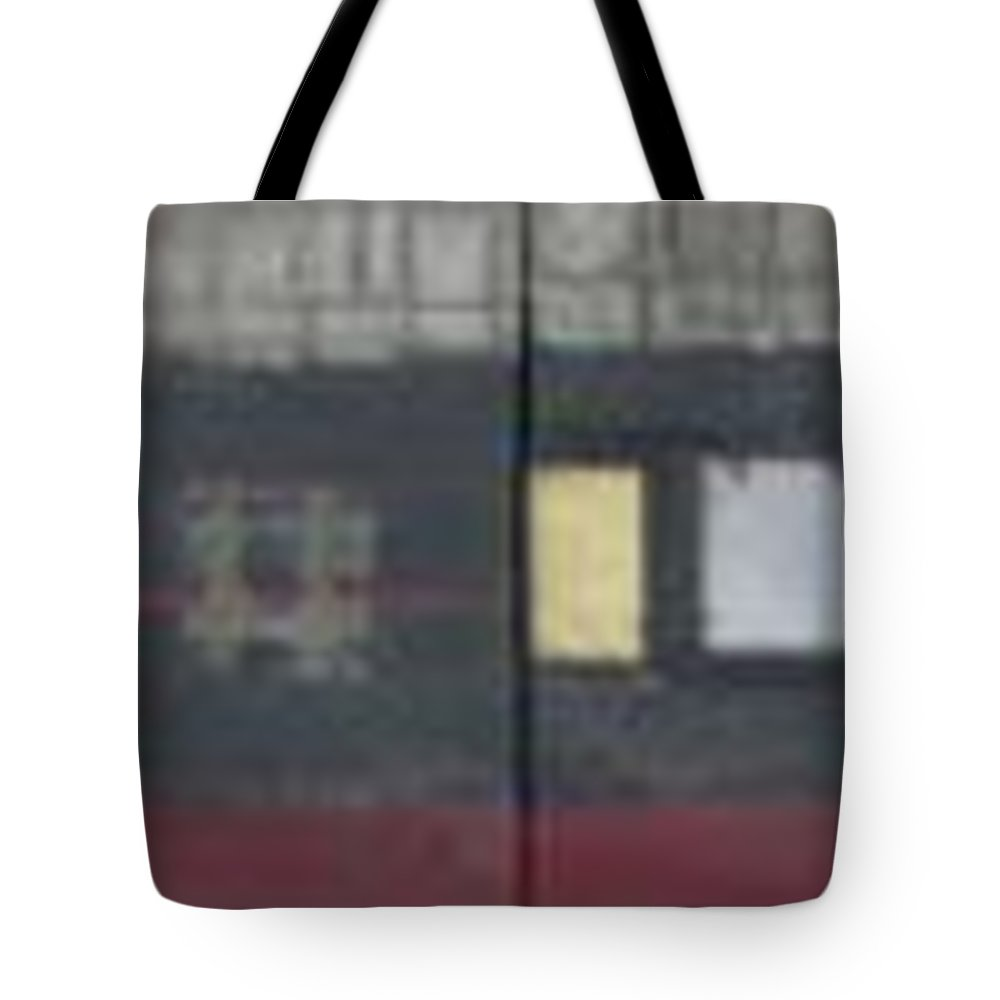 Abstract Tote Bag featuring the mixed media Griddies by Marlene Burns