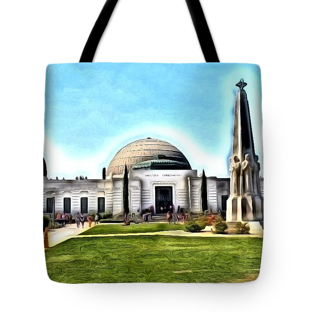 Observatory Tote Bag featuring the photograph Griffith Observatory, Los Angeles, California by Robert Butler