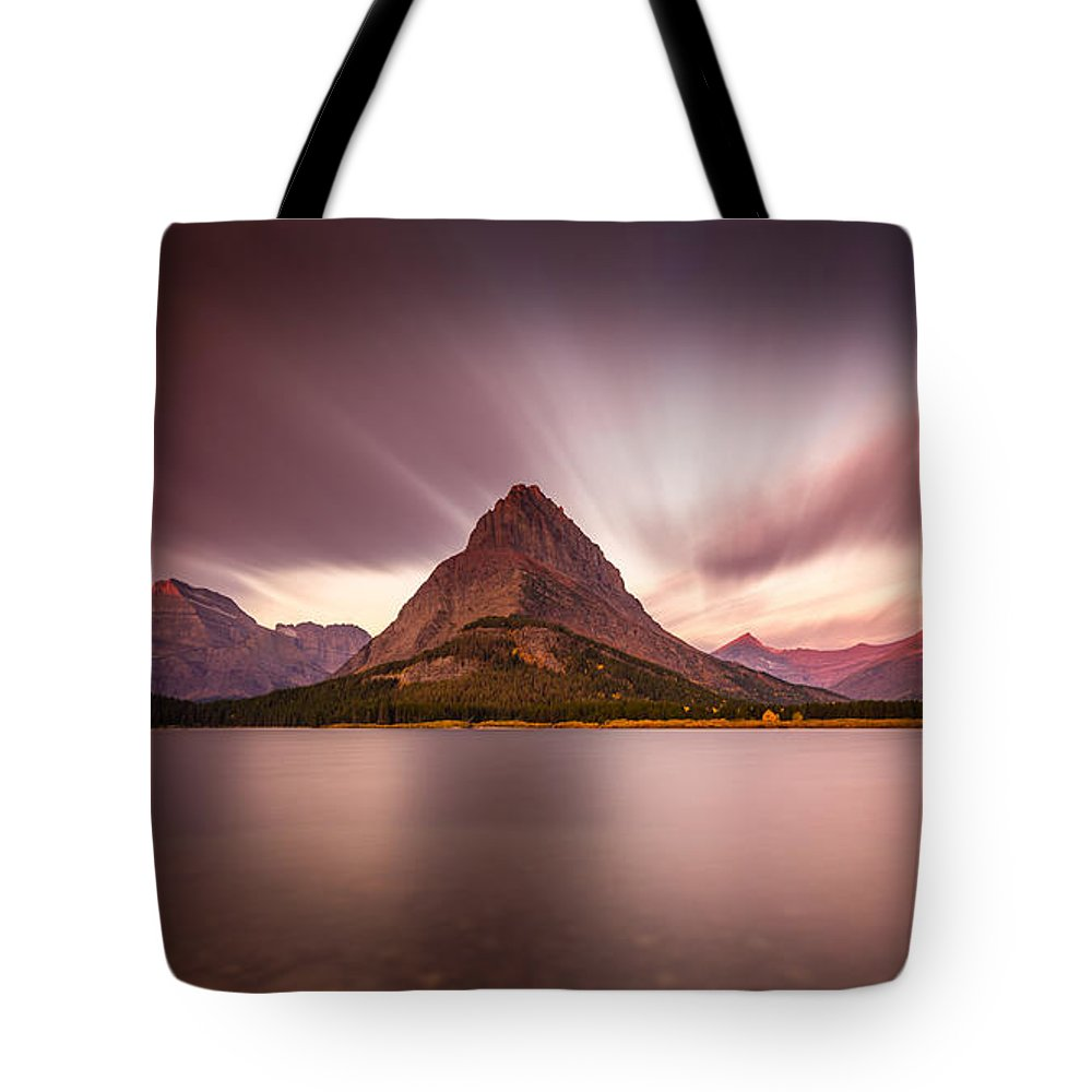 Glacier National Park Tote Bag featuring the photograph Grinnell Sunrise by Pierre Leclerc Photography