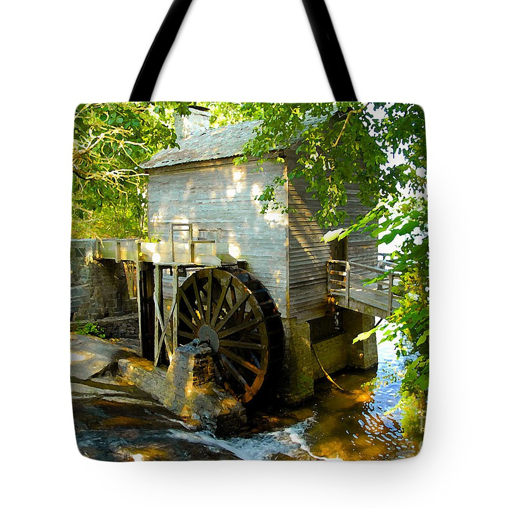 Grist Mill Tote Bag featuring the photograph Grist Mill by David Lee Thompson