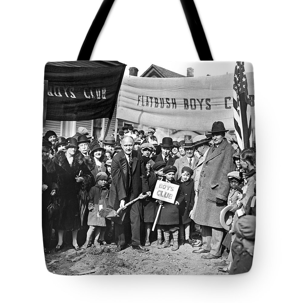 1920s Tote Bag featuring the photograph Groundbreaking Ceremony by Underwood Archives