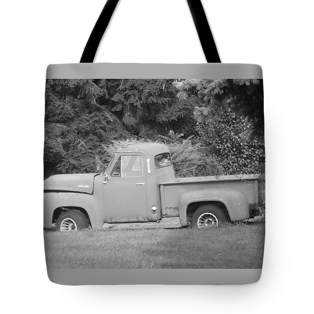 Truck Tote Bag featuring the photograph Grounded Pickup by Pharris Art