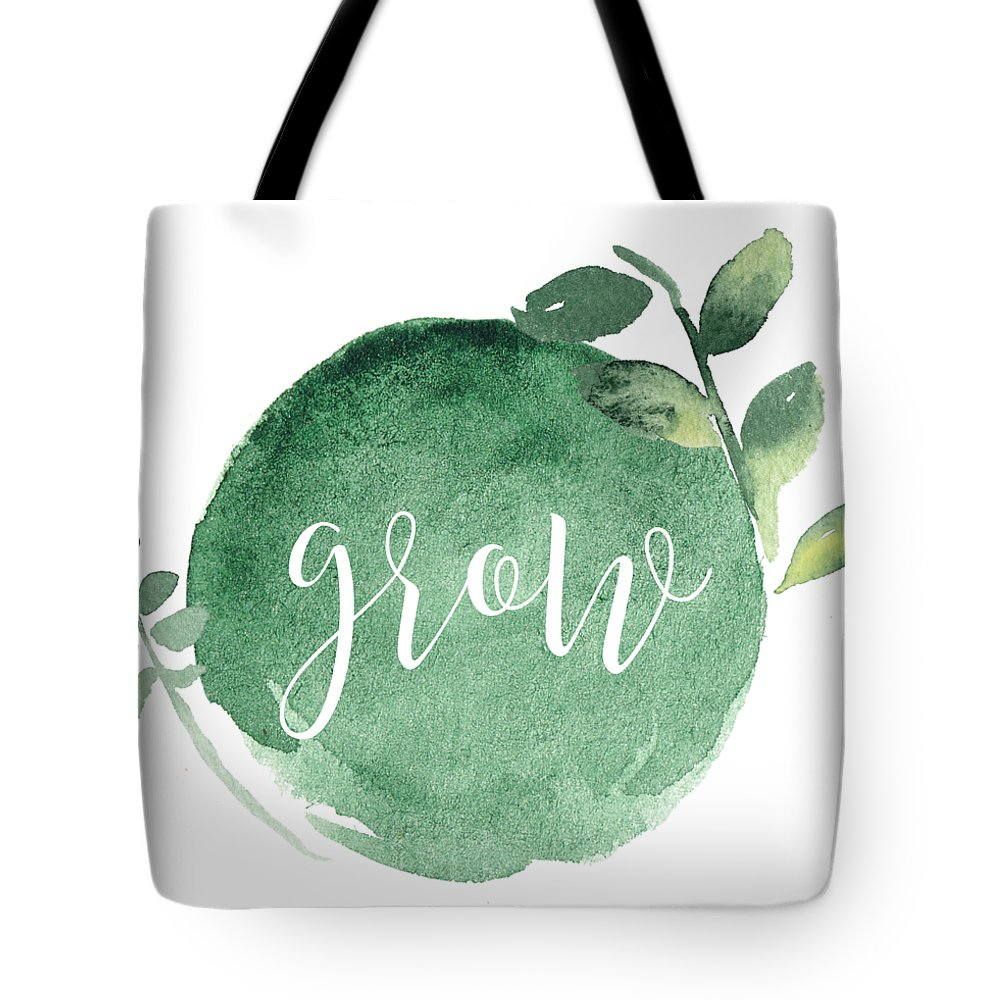 Grow Tote Bag featuring the mixed media Grow by Nancy Ingersoll