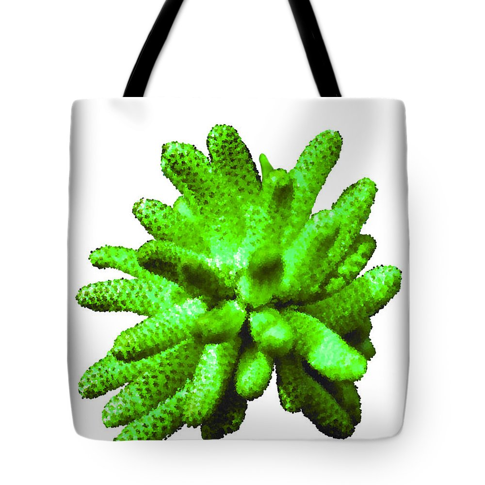 Bruce Tote Bag featuring the painting Growing Green by Bruce Nutting