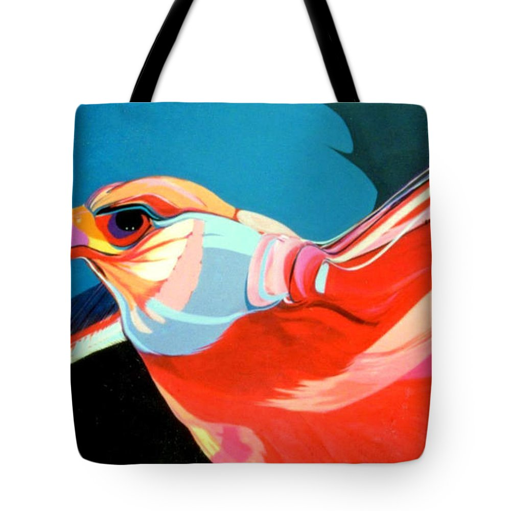 Bird Tote Bag featuring the painting Gryfalcon by Marlene Burns