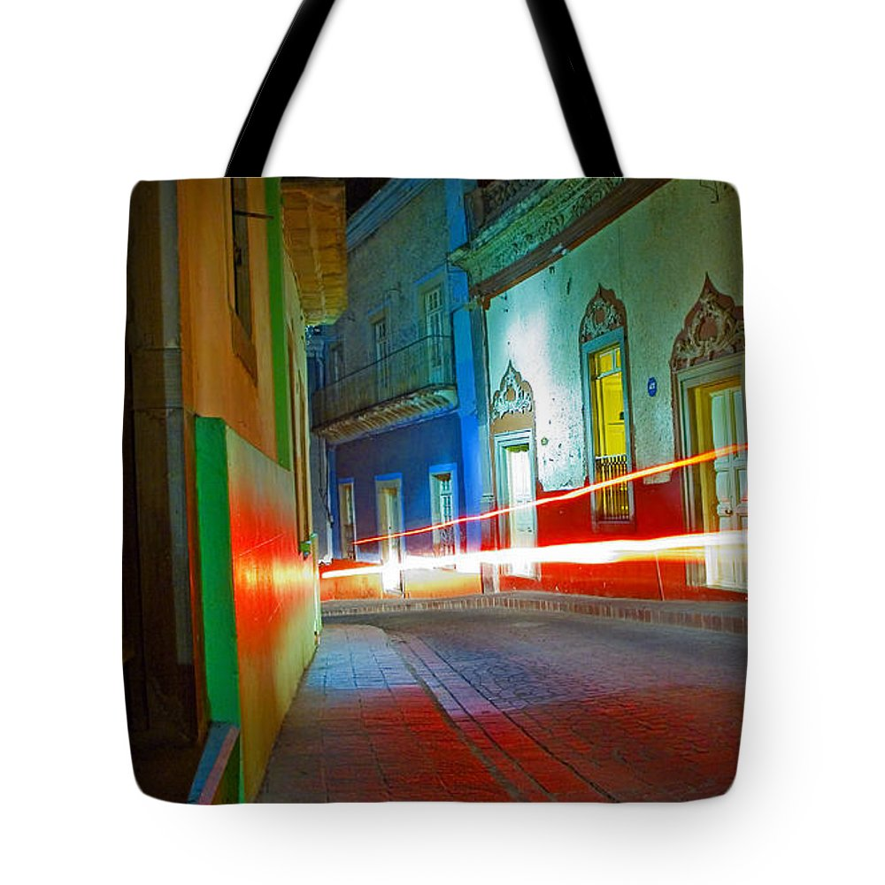 Shadow Tote Bag featuring the photograph Guanajuato Night by Skip Hunt