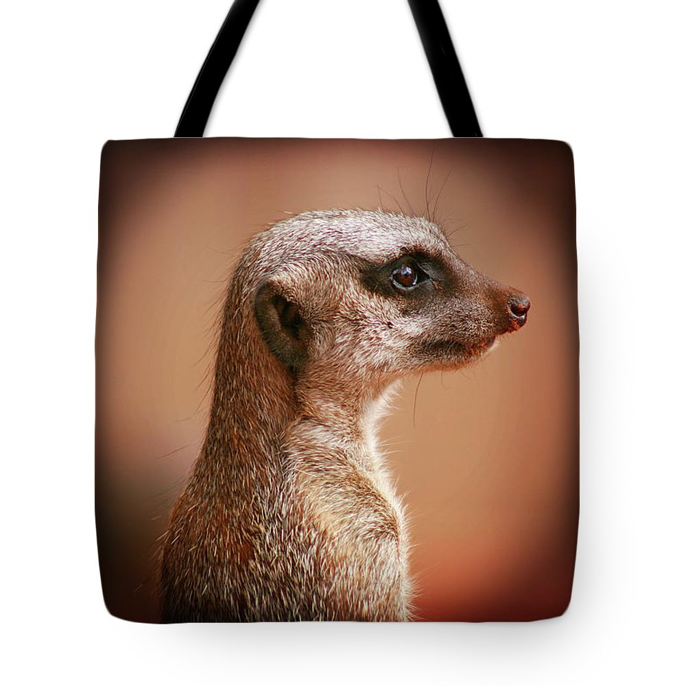 Meerkat Tote Bag featuring the photograph Guard Duty by Douglas Barnard