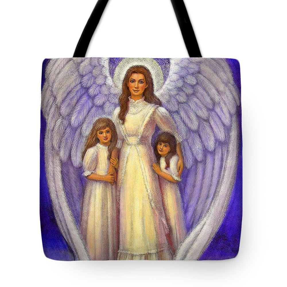 Angel Tote Bag featuring the painting Guardian Angel by Sue Halstenberg