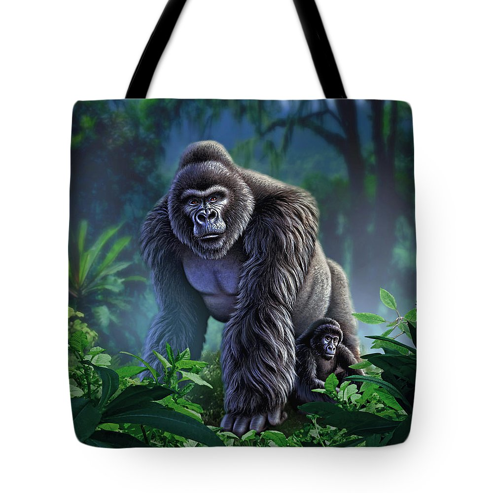 Gorilla Paintings Tote Bags