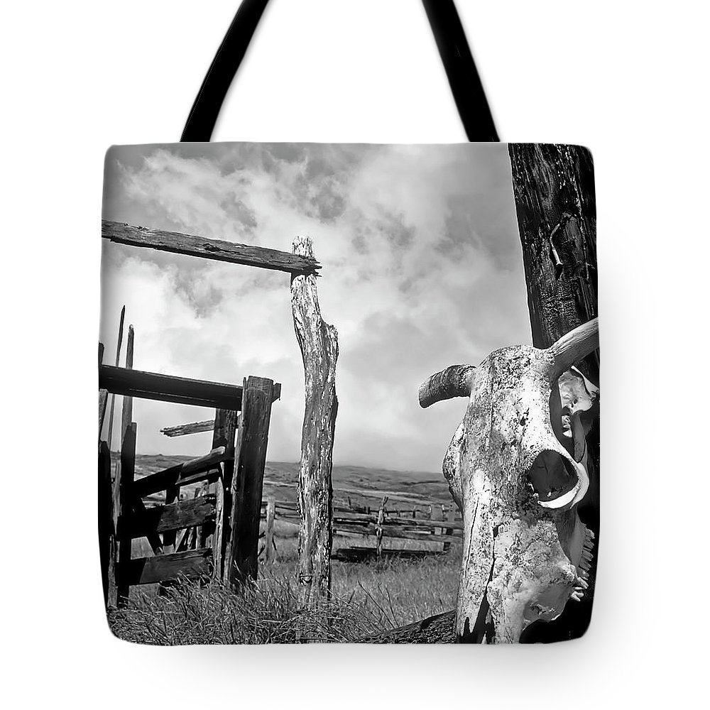 Black And White Tote Bag featuring the photograph Guardian Spirit by Jim Cazel