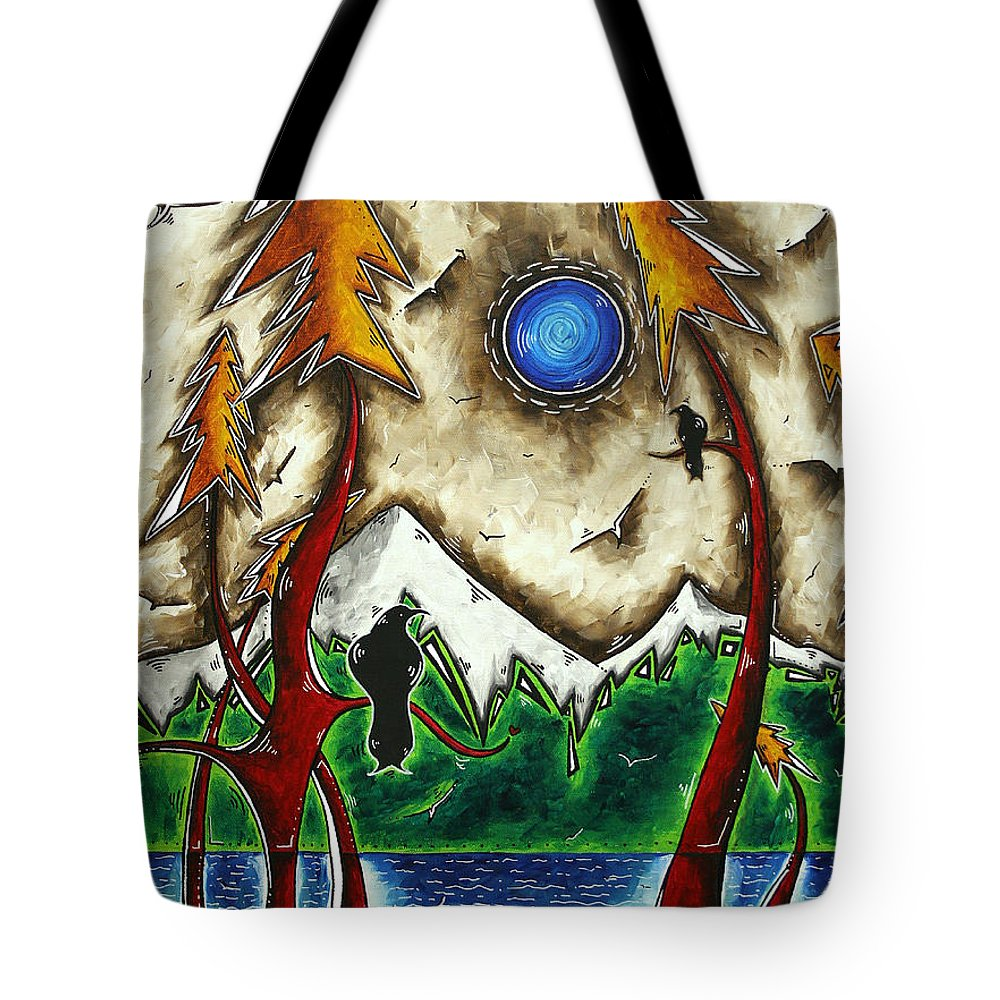 Art Tote Bag featuring the painting Guardians Of The Wild Original Madart Painting by Megan Duncanson