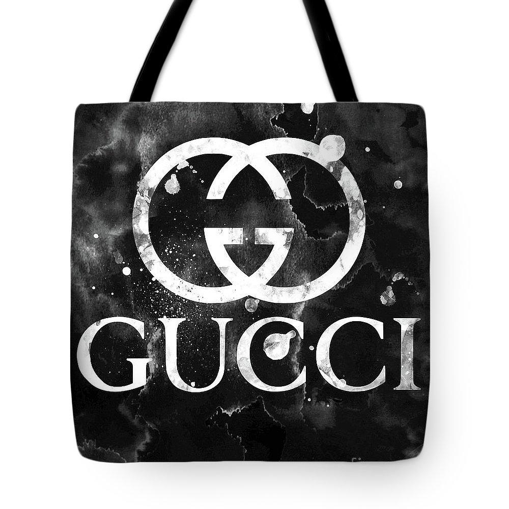 6d59a295ed Gucci Tote Bag featuring the digital art Gucci Logo Black 2 by Del Art