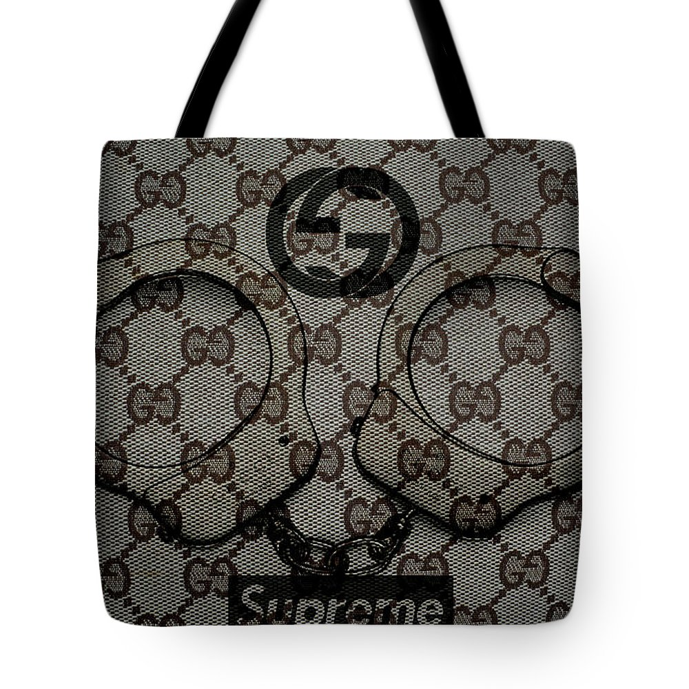 cc9b0b694090 Gucci Tote Bag featuring the digital art Gucci Monogram With Handcups by To-Tam  Gerwe