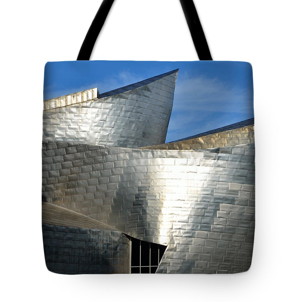 Guggenheim Tote Bag featuring the photograph Guggenheim Museum Bilbao - 5 by RicardMN Photography