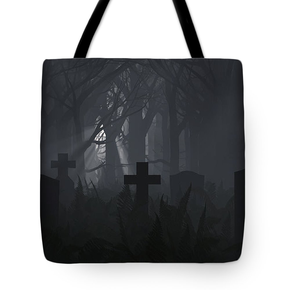 Death Tote Bag featuring the digital art Guiding Light by Richard Rizzo