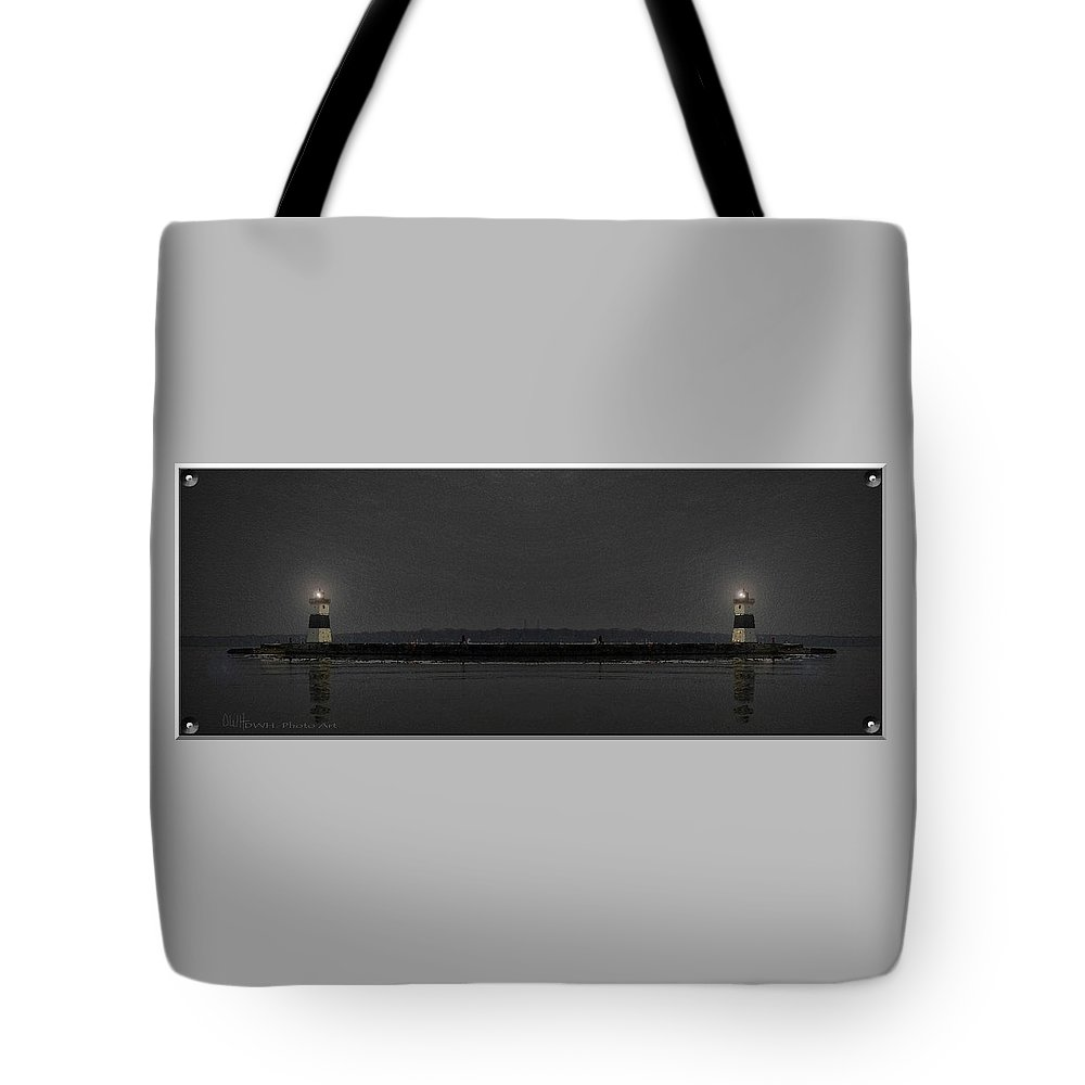 Lighthouse Tote Bag featuring the photograph Guiding Lights by David Healey