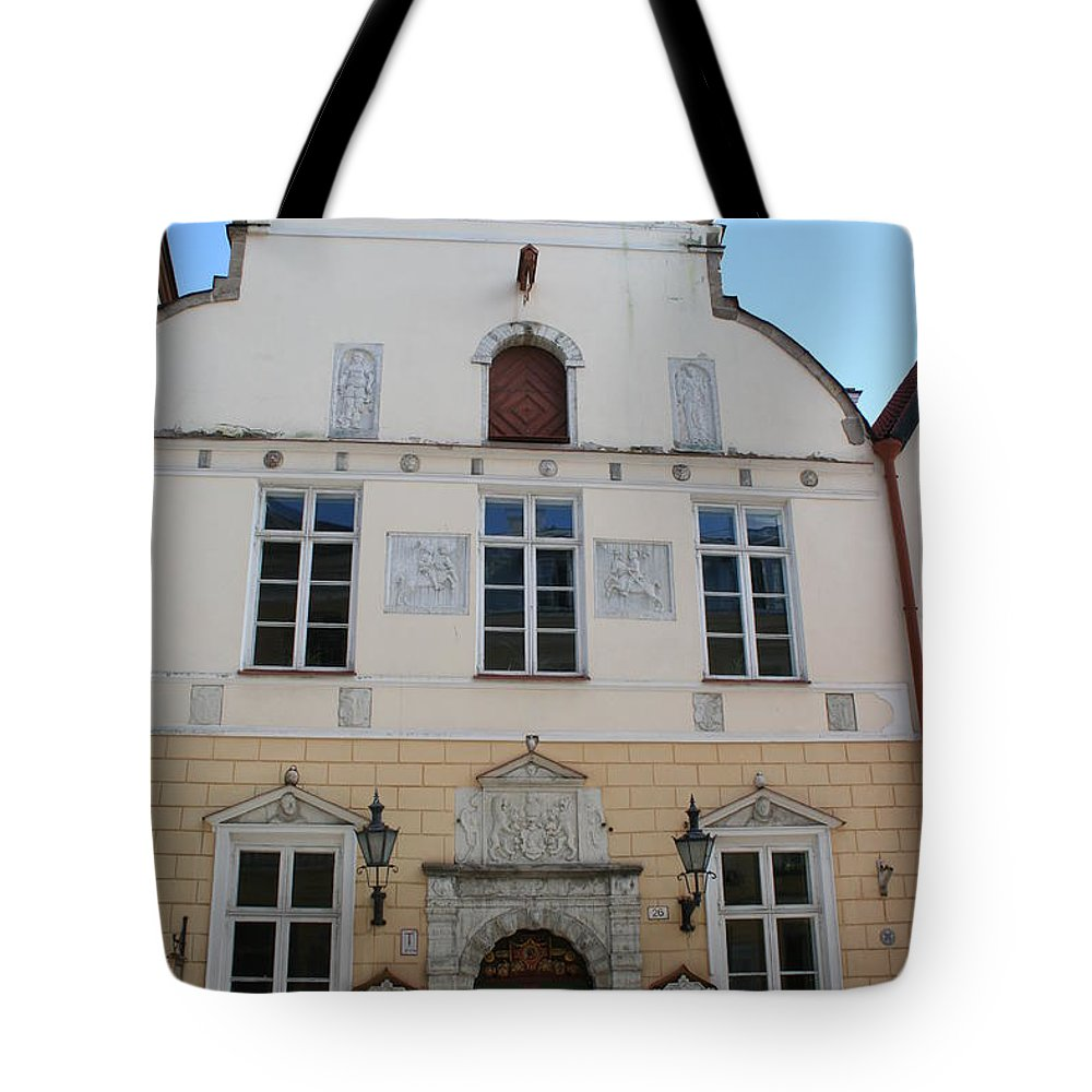 House Tote Bag featuring the photograph Guild House - Tallinn by Christiane Schulze Art And Photography