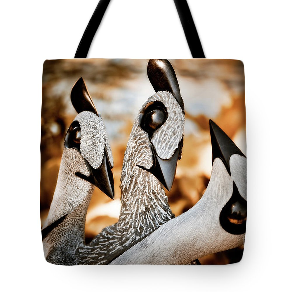 Art Tote Bag featuring the photograph Guineafowl Family by Venetta Archer