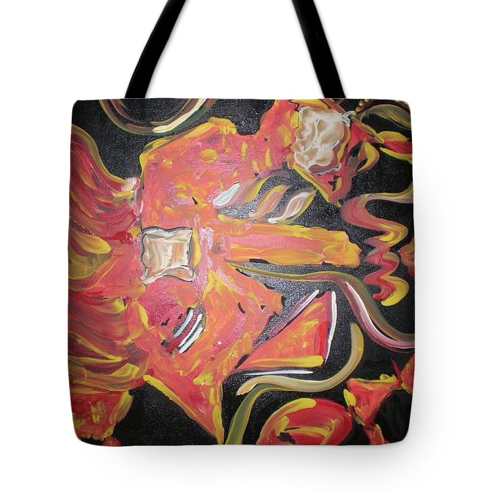 Guitar Tote Bag featuring the painting Guitar Jiggy by Kelly Turner