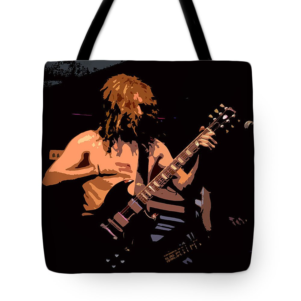 Music Tote Bag featuring the painting Guitar Player by David Lee Thompson