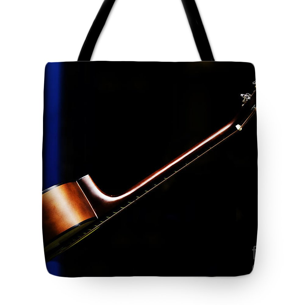 Guitar Tote Bag featuring the photograph Guitar by Avalon Fine Art Photography