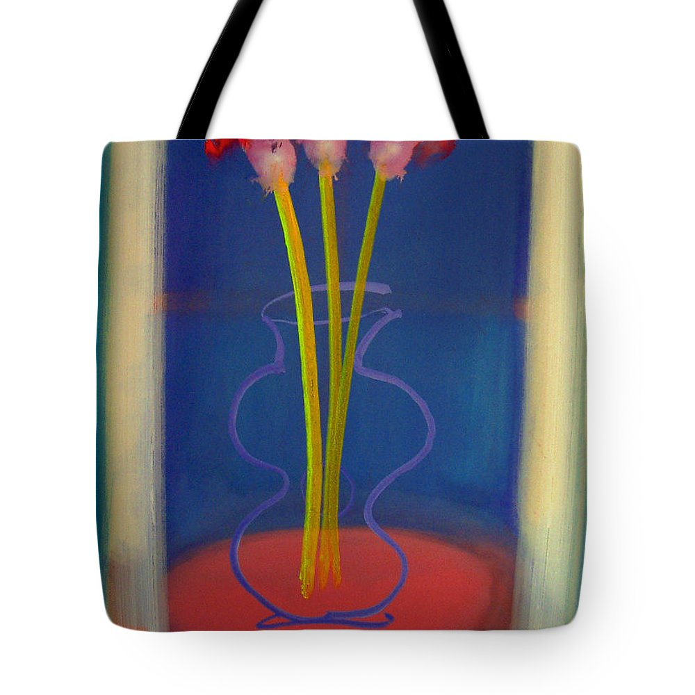 Guitar Tote Bag featuring the painting Guitar Vase by Charles Stuart