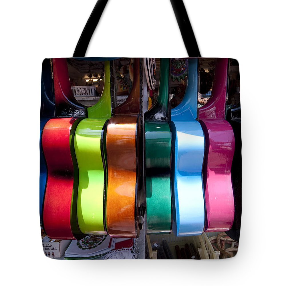 Guitars Tote Bag featuring the photograph Guitars by Mike Herdering