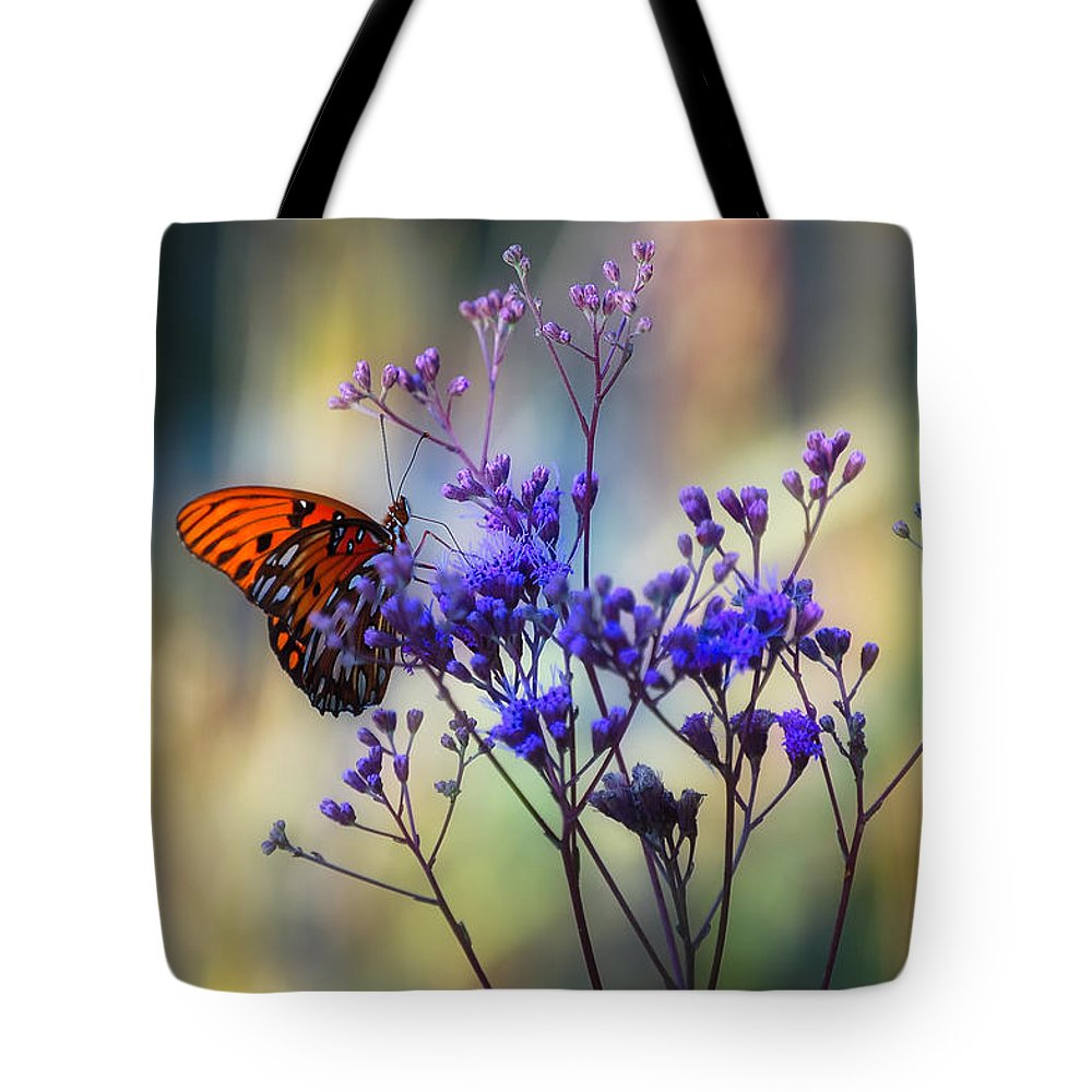 Butterfly Tote Bag featuring the photograph Gulf Fritillary by Rich Leighton
