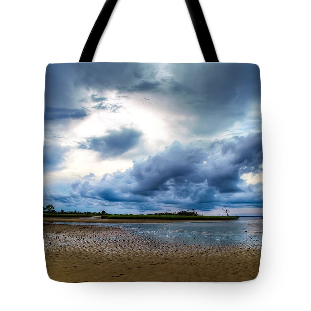 Beach Tote Bag featuring the photograph Gulf Storm by Rich Leighton