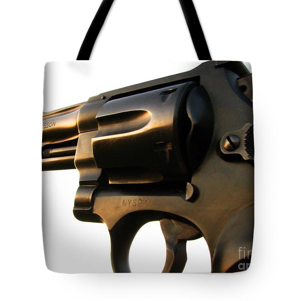 Gun Tote Bag featuring the photograph Gun Series by Amanda Barcon