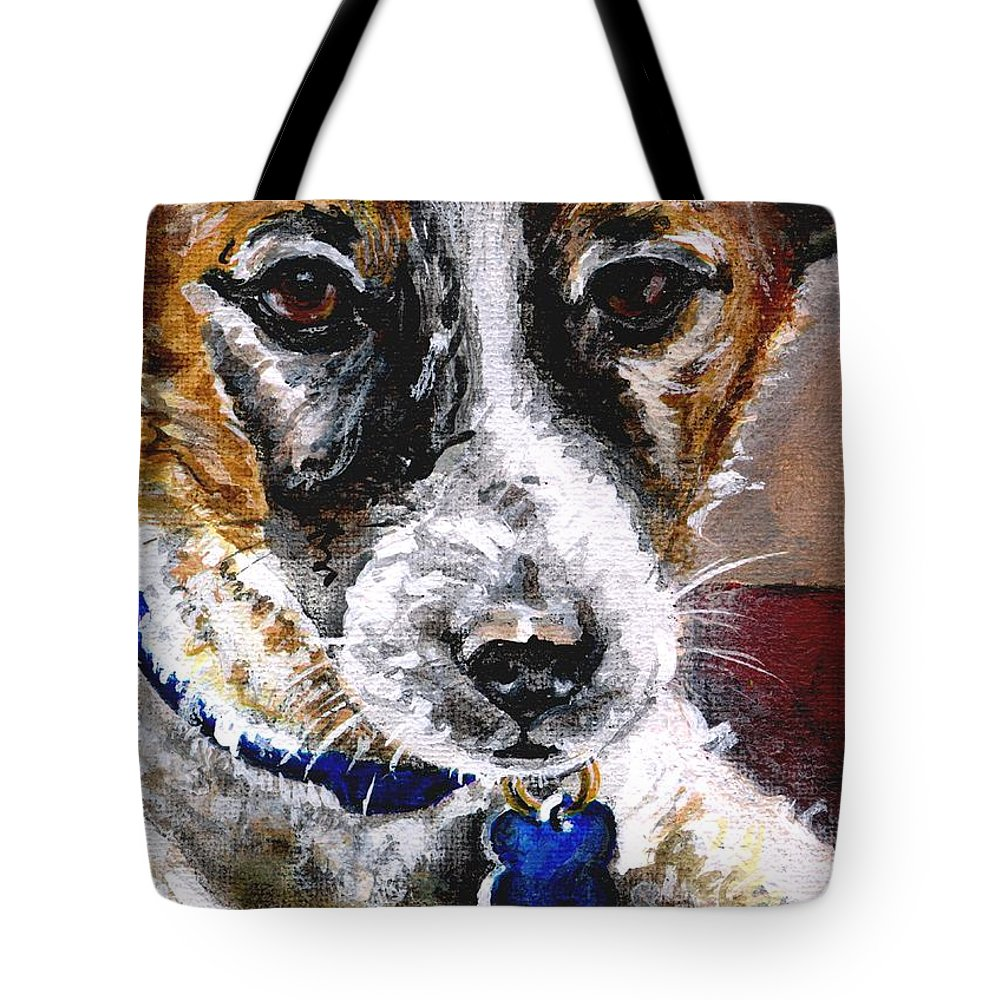 Chartiy Tote Bag featuring the painting Gunter From Muttville by Mary-Lee Sanders
