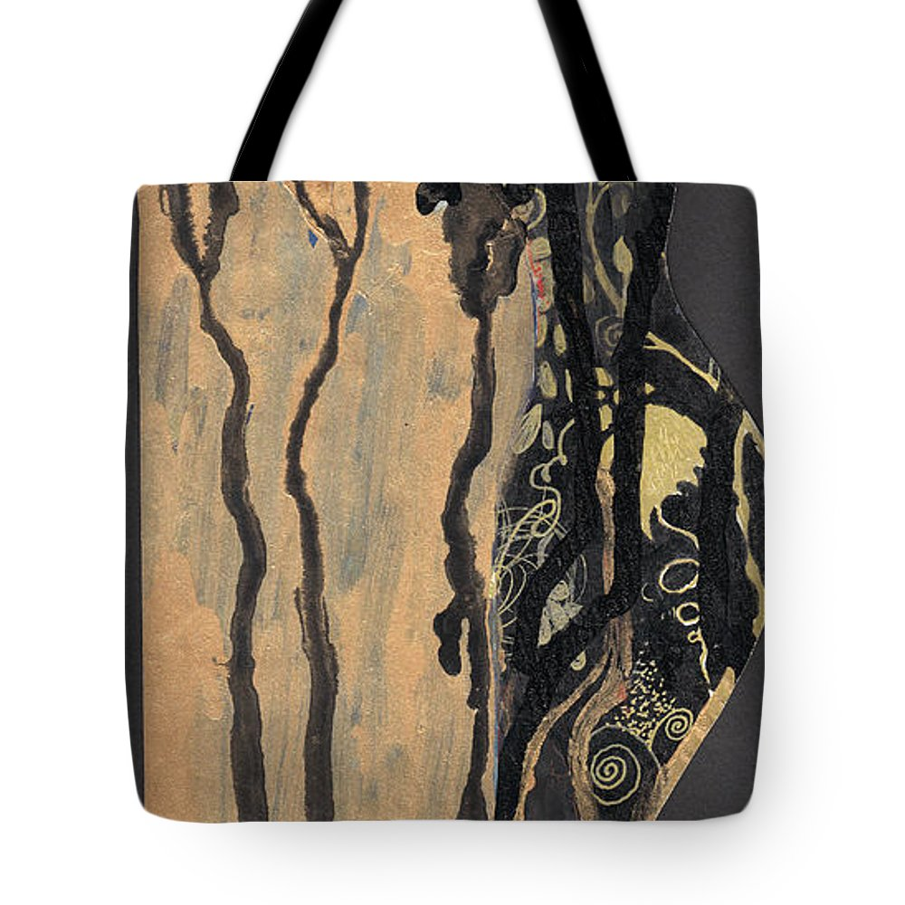 Woman Tote Bag featuring the painting Gustav Klimt's Tears by Maya Manolova
