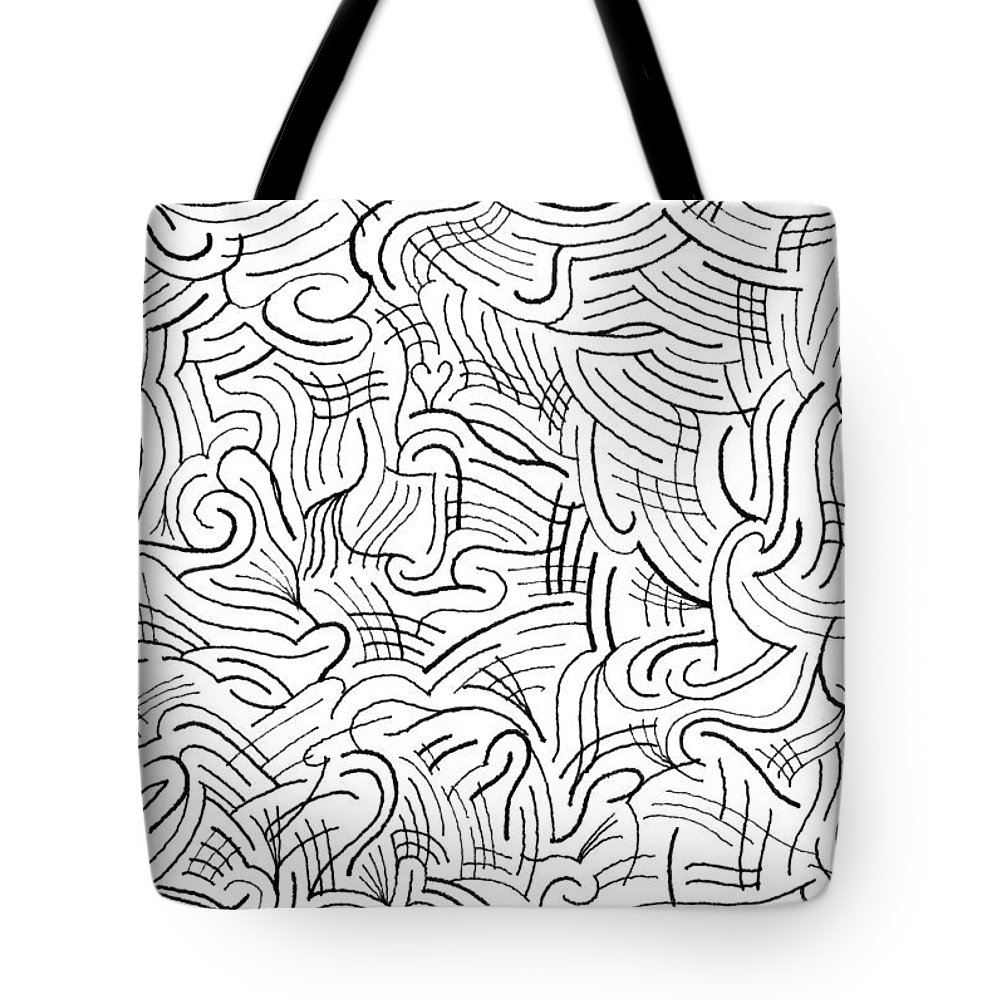 Mazes Tote Bag featuring the drawing Gusty by Steven Natanson