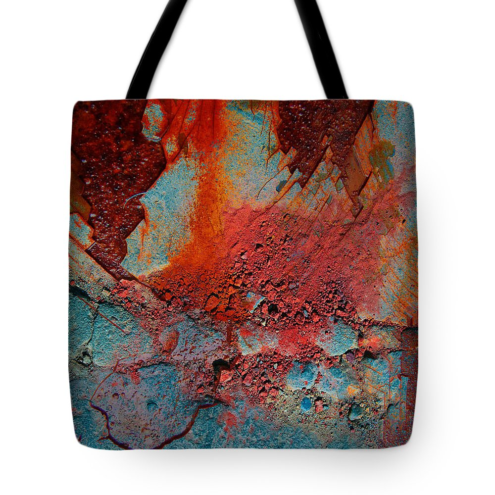 Rust Tote Bag featuring the photograph Gutters That Speak by The Artist Project