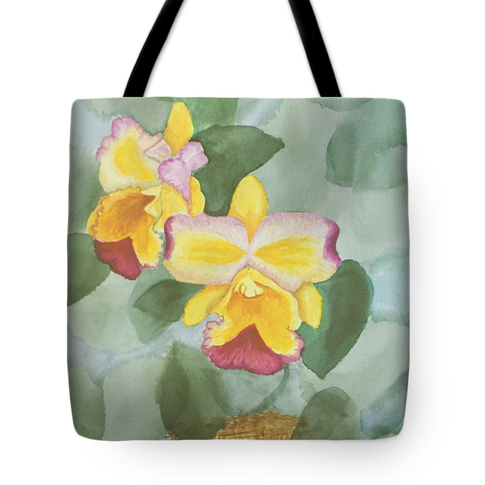 Orchids Tote Bag featuring the painting Gypsy Orchids by Peggy King