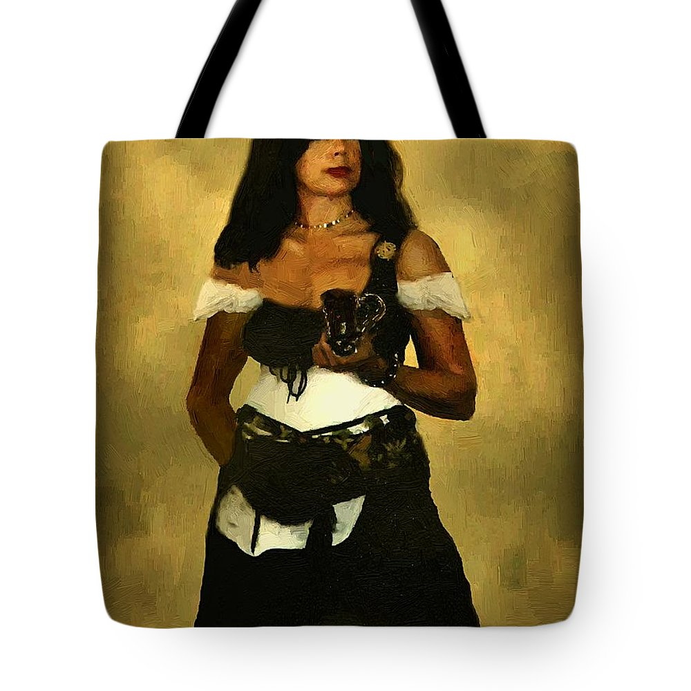Barmaid Tote Bag featuring the painting Gypsy Polly by RC DeWinter