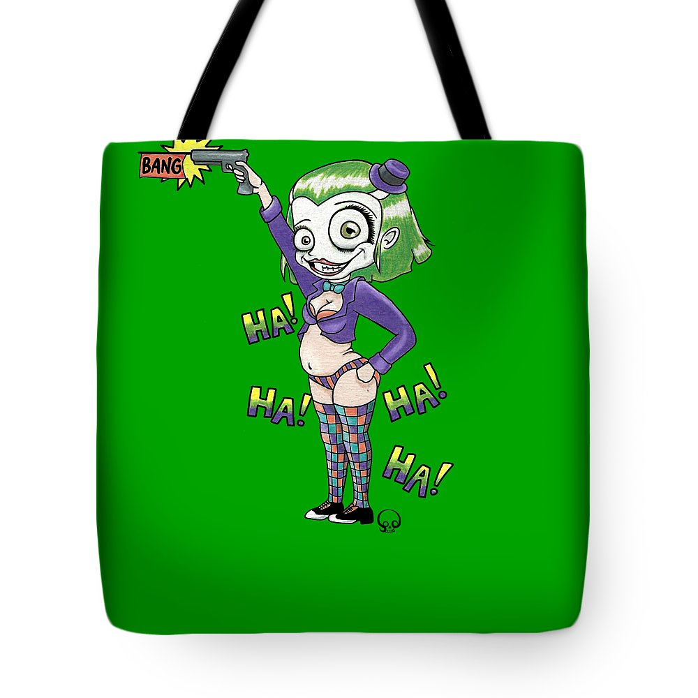 Parody Tote Bag featuring the mixed media Ha Ha Ha Ha by Shaz Justice