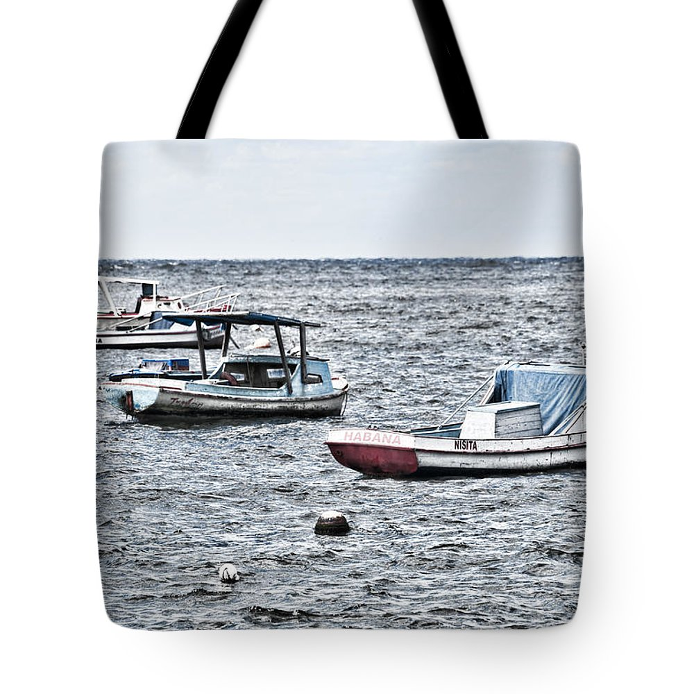 Cuba Tote Bag featuring the photograph Habana Ocean Ride by Sharon Popek