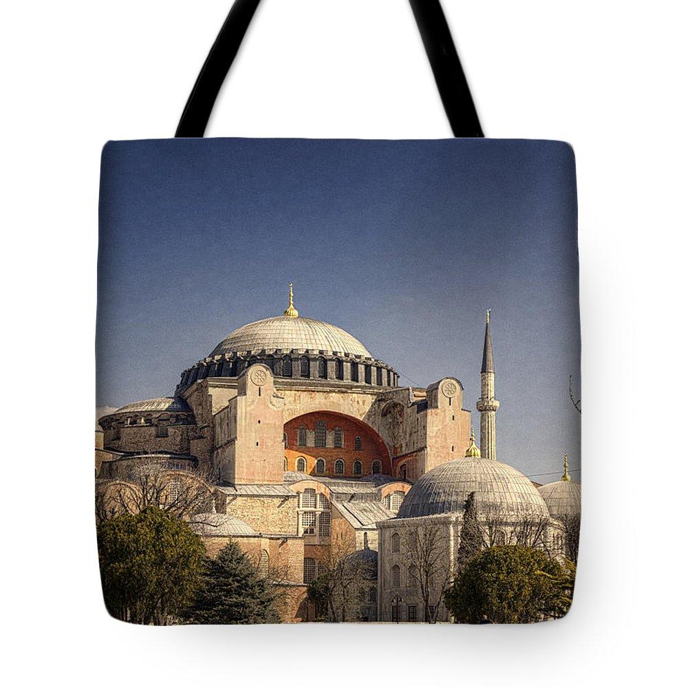 Hagia Sophia Tote Bag featuring the photograph Hagia Sophia by Joan Carroll