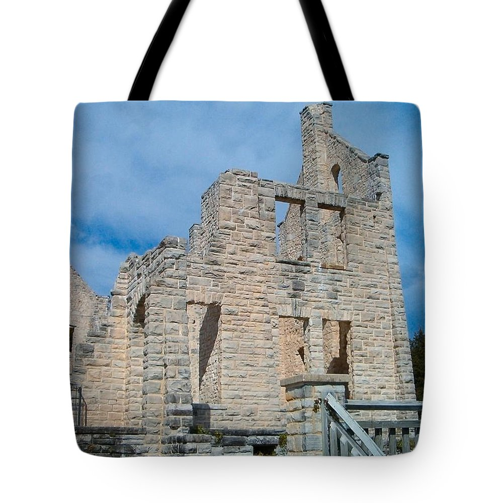Castle Tote Bag featuring the photograph Haha Tonka Castle 2 by Sara Raber