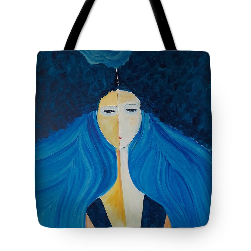 Hair Tote Bag featuring the painting Hair by Ovadia Keidar