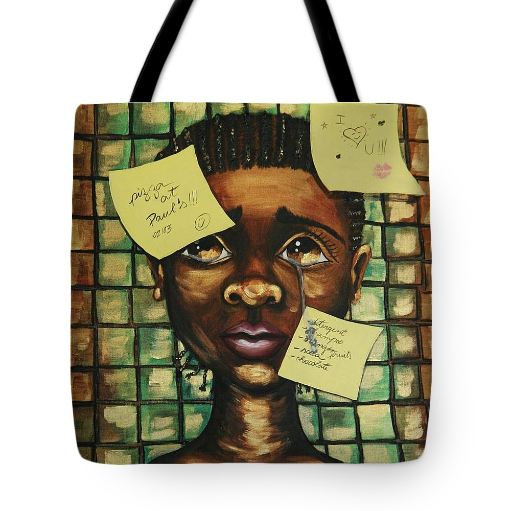 Child Tote Bag featuring the painting Haiti 2010 by Cris Motta