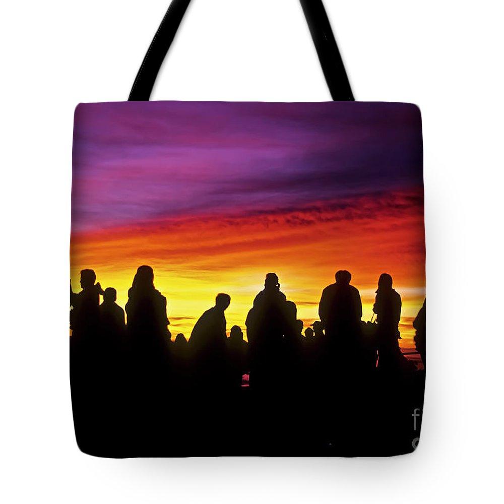 Haleakala Sunrise Tote Bag featuring the photograph Haleakala Color Show by Jim Cazel