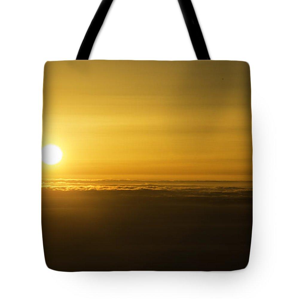 Haleakala Tote Bag featuring the photograph Haleakala Sunset by Michael Miller