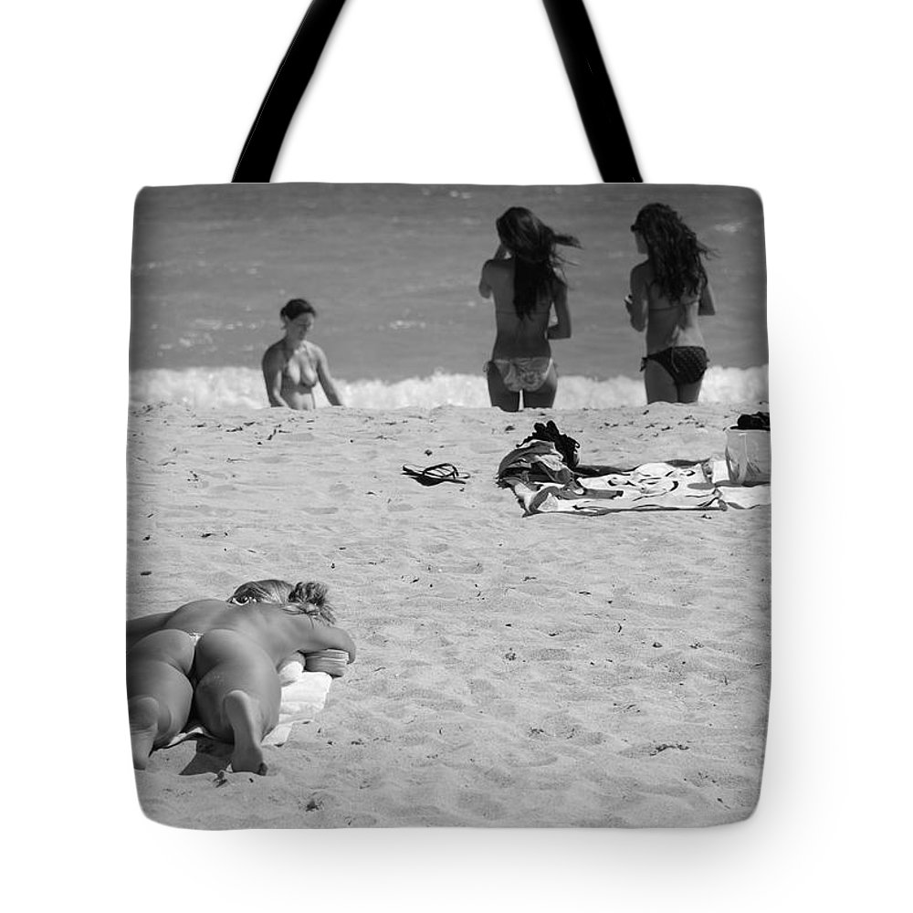 Miami Tote Bag featuring the photograph Half Dead Half Alive by Rob Hans