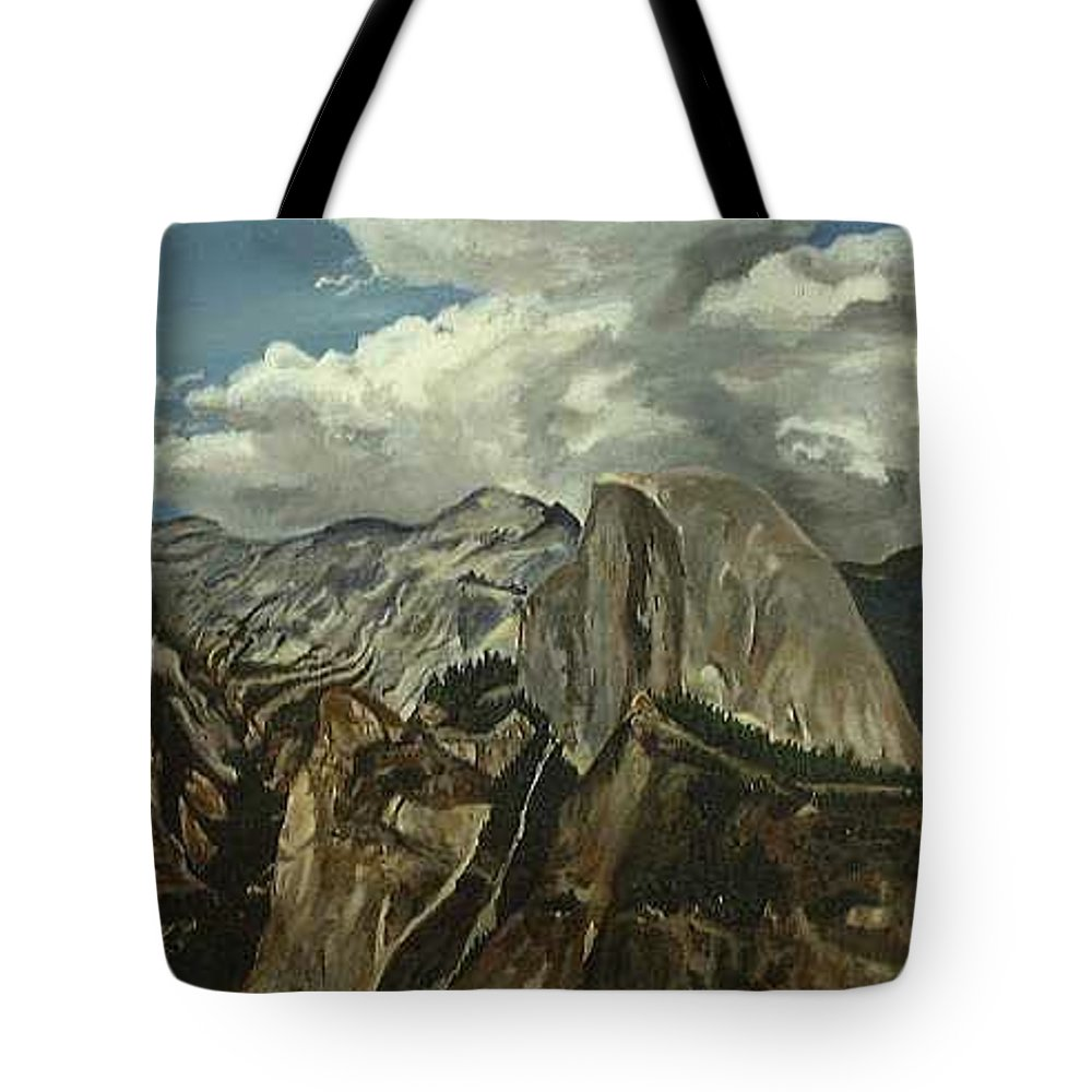 Tote Bag featuring the painting Half Dome by Travis Day